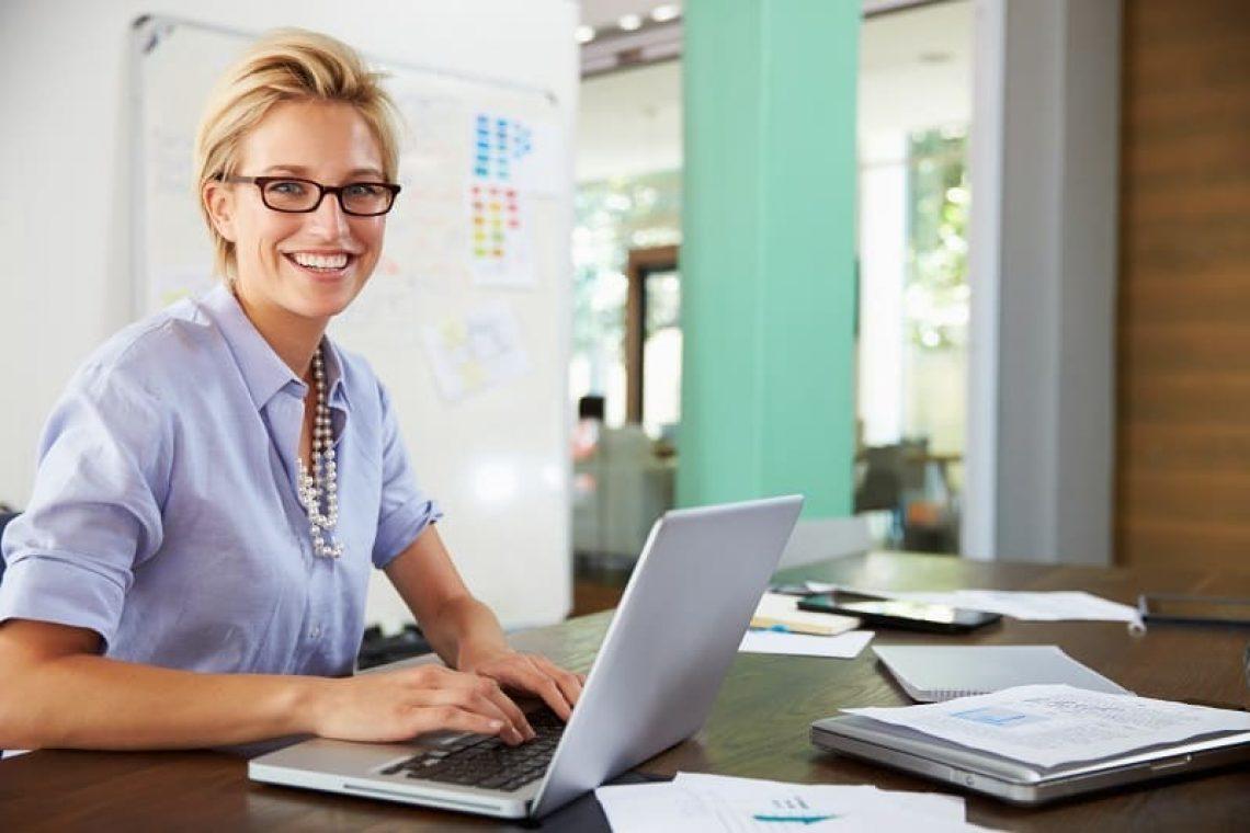 Portrait Of Businesswoman Working In Creative Office
